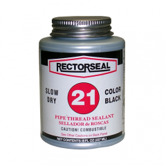 Rector Seal, No. 21, Large, 1/2 pint, Color Black