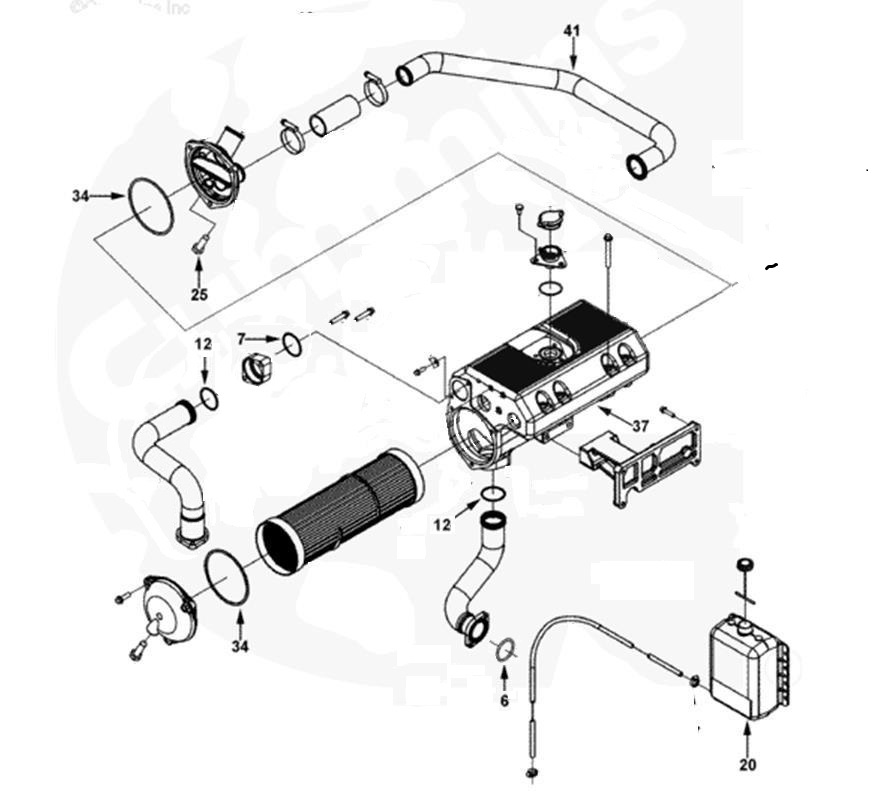 4 Cummins Qsc Heat Exchanger O Ring Kit