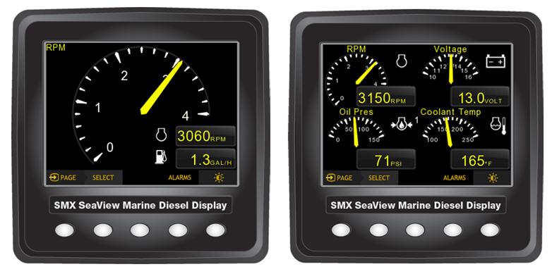 SMX SeaView J1939 Digital Double Displays