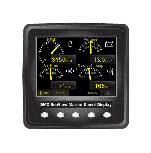 Smx Seaview J1939 Single Digital Display Kit Seaboard Marine