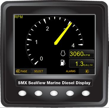 SMX SeaView J1939 Single Digital Display Kit - Seaboard Marine