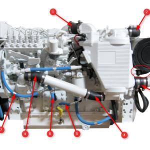 6BTA 5.9 330/370 Diamond Engine Hoses Aftercooler Side