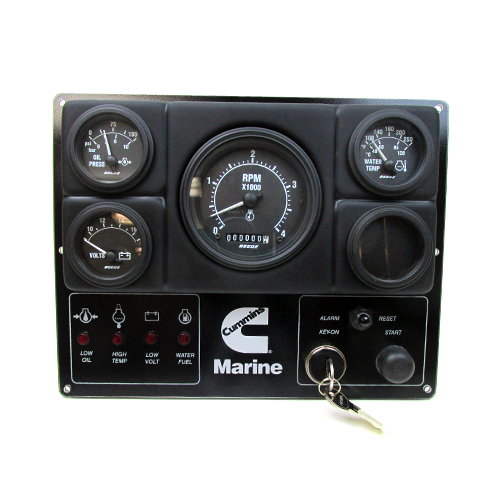 Cummins Oem Analog Marine Instrument Panel  12v