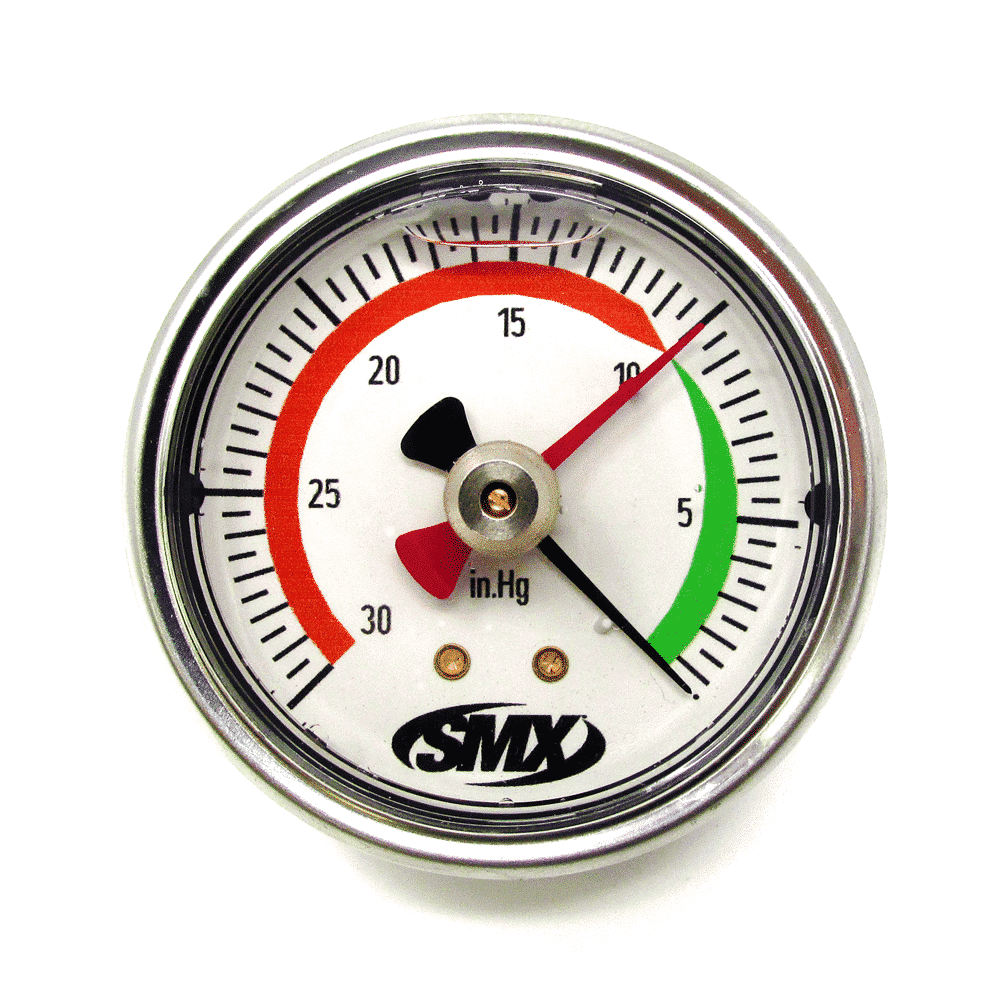 Smx Drag Pointer Vacuum Gauge  Rear Low Profile Mount