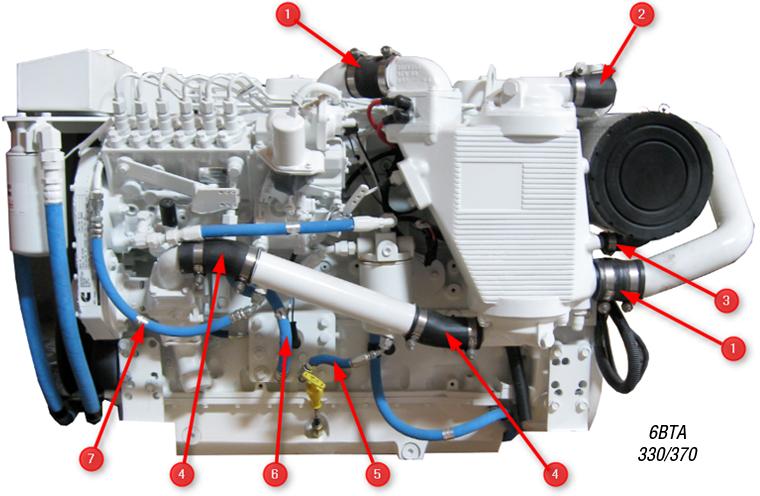 hs  aftercooler air side multi ply turbo hose seaboard marine