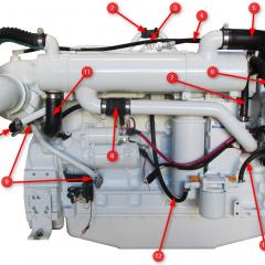 6CTA 8.3 430/450 Diamond Engine Hoses HX Side
