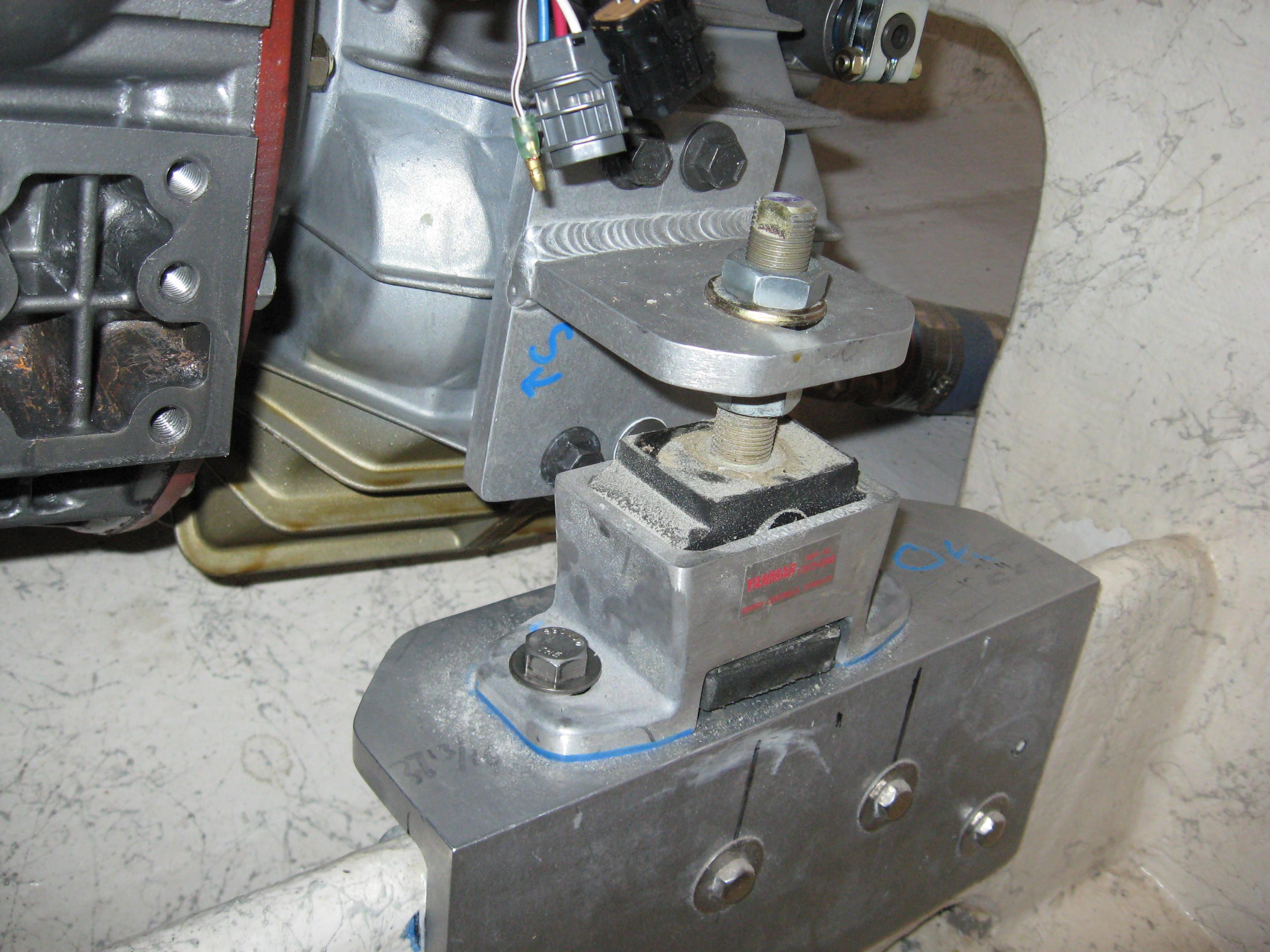 Inside transmission mounts