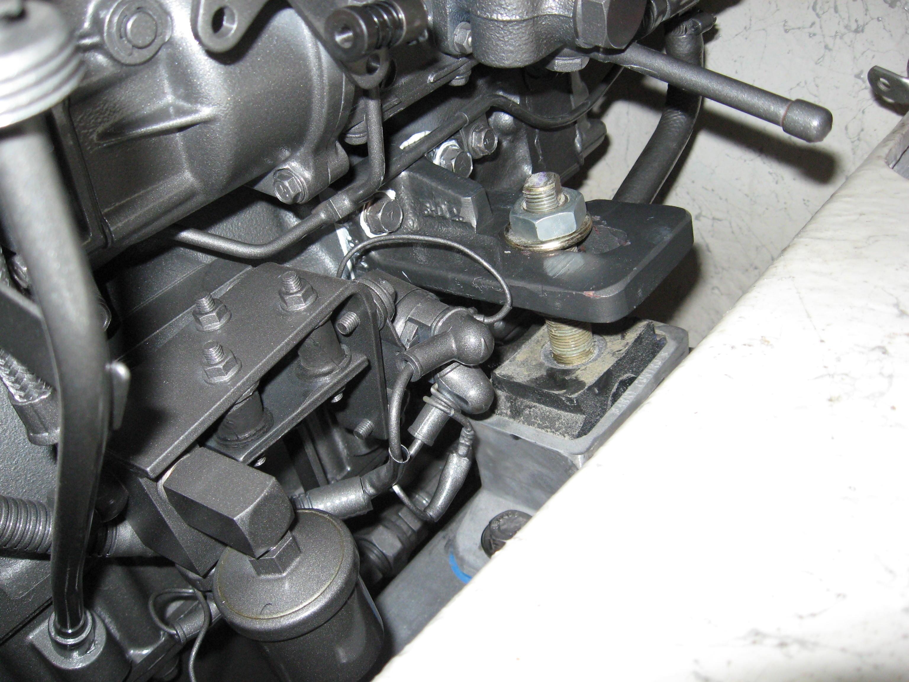 Outside Stringer front engine bracketing