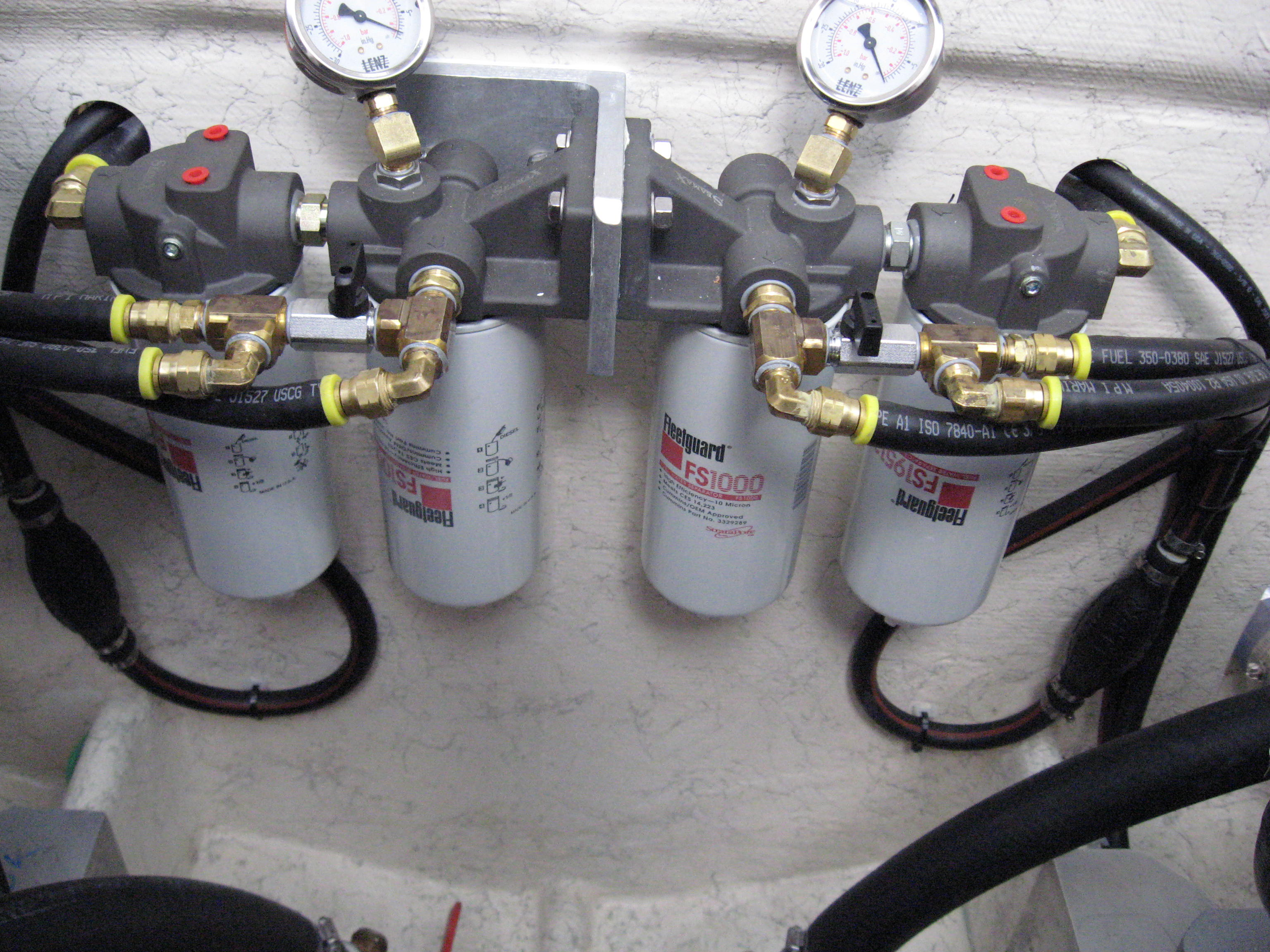 Our Multi-Stage FUELTRATION system with simple isolated priming