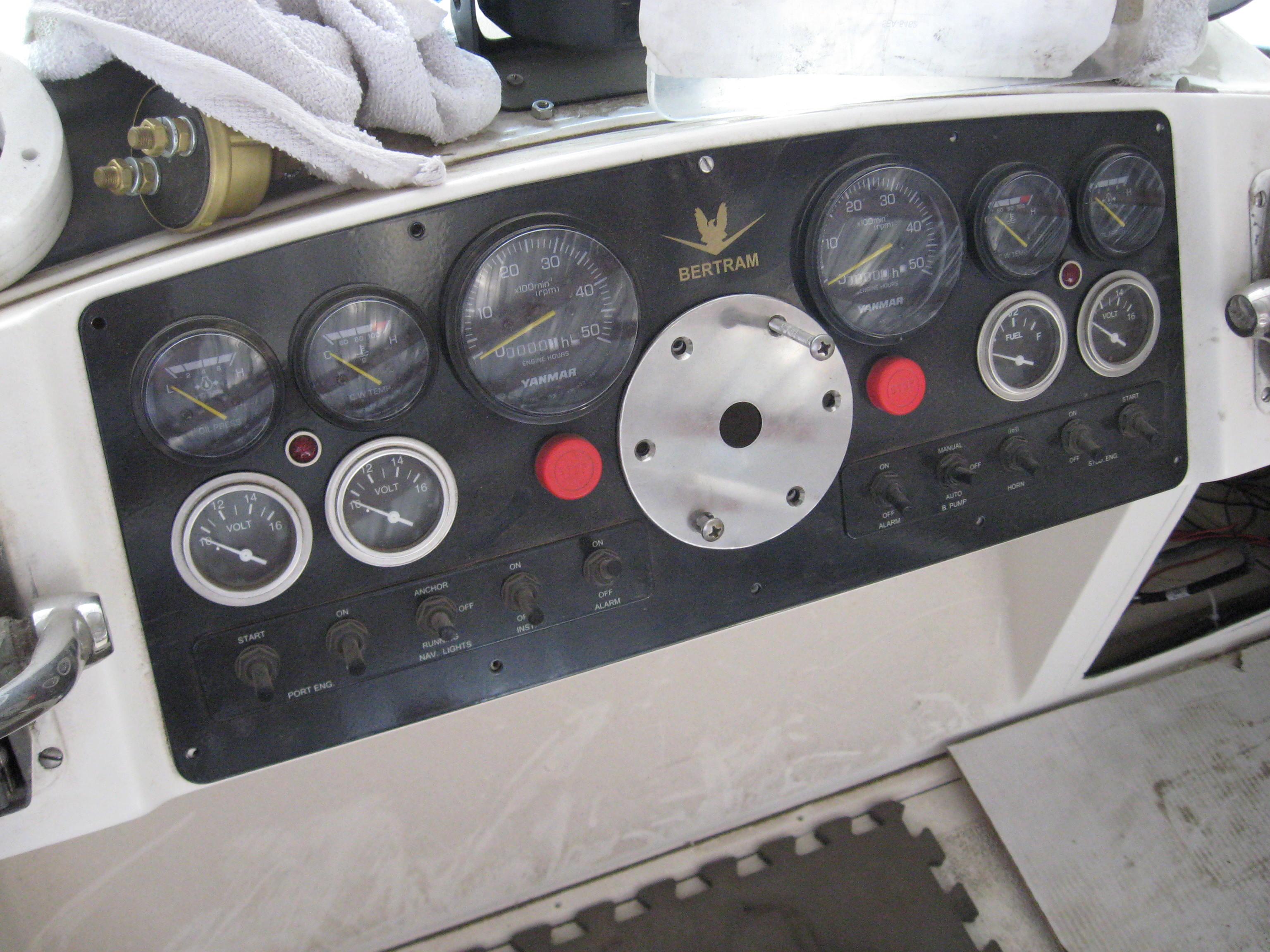 Owner custom Yanmar dash