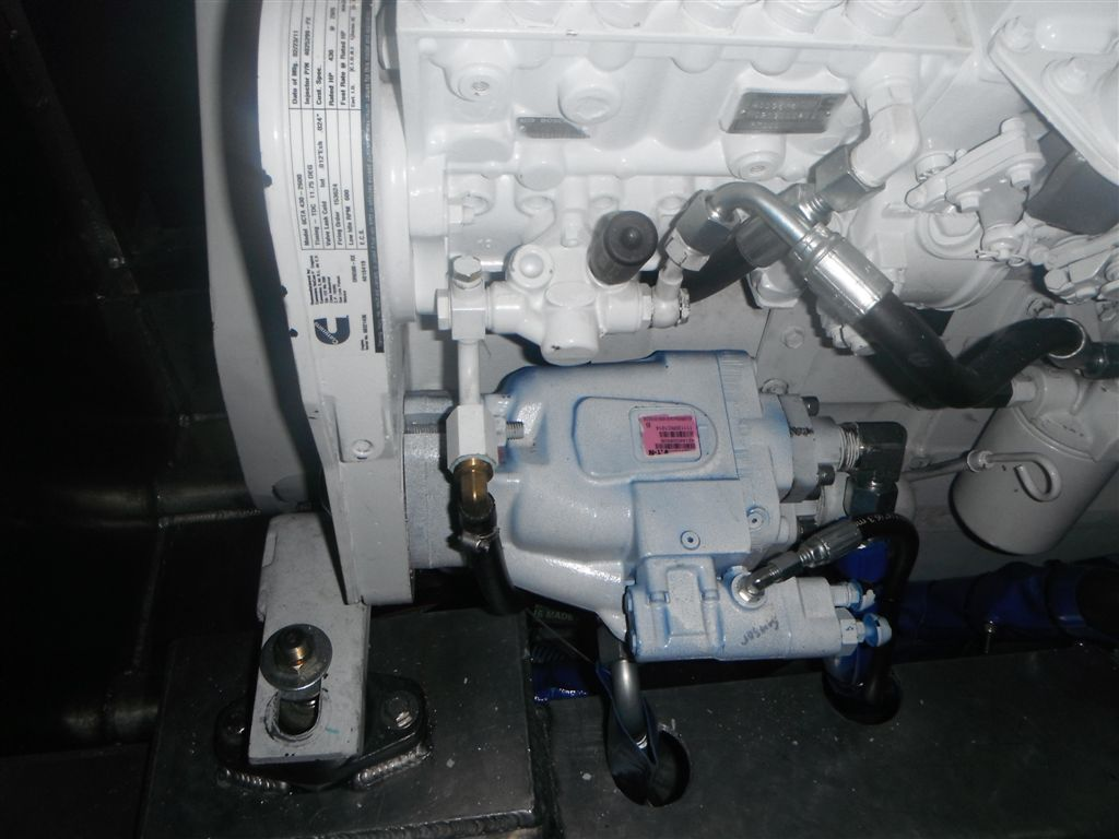 Cummins Marine 430C & Big Pressure Compensated Pump