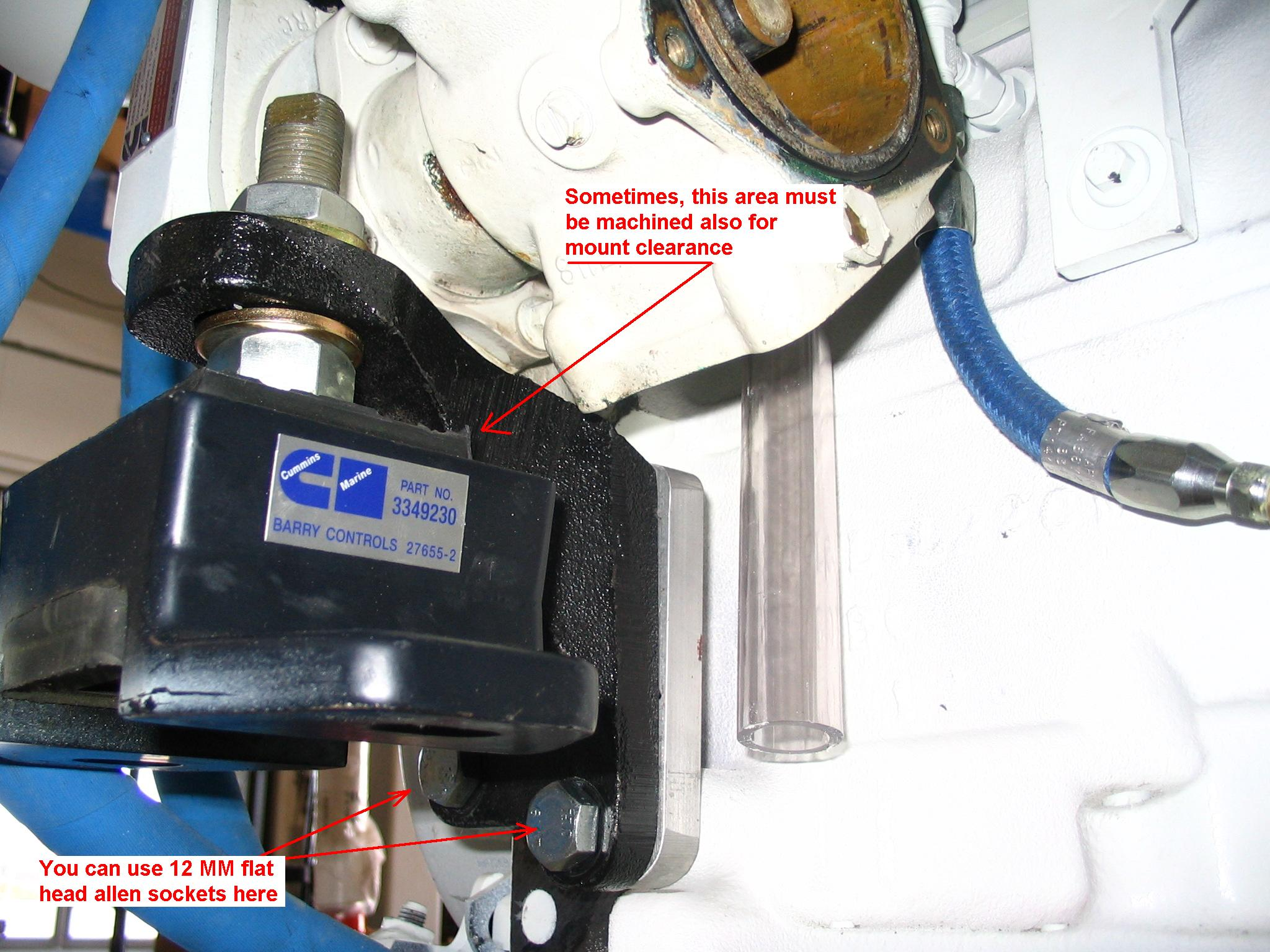 Dealing With The Seawater Pump On A Cummins Marine 6bta 59 Jack Oil Well Wiring Diagram Some Other Help Proven Tricks Impeller Removal And Installation That May To Remove This Works Best If You Must Leave