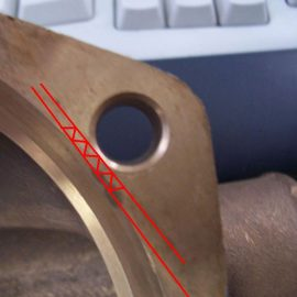 ".070"" clearance between the edge and that bolt-hole? Use the thinner O-ring"