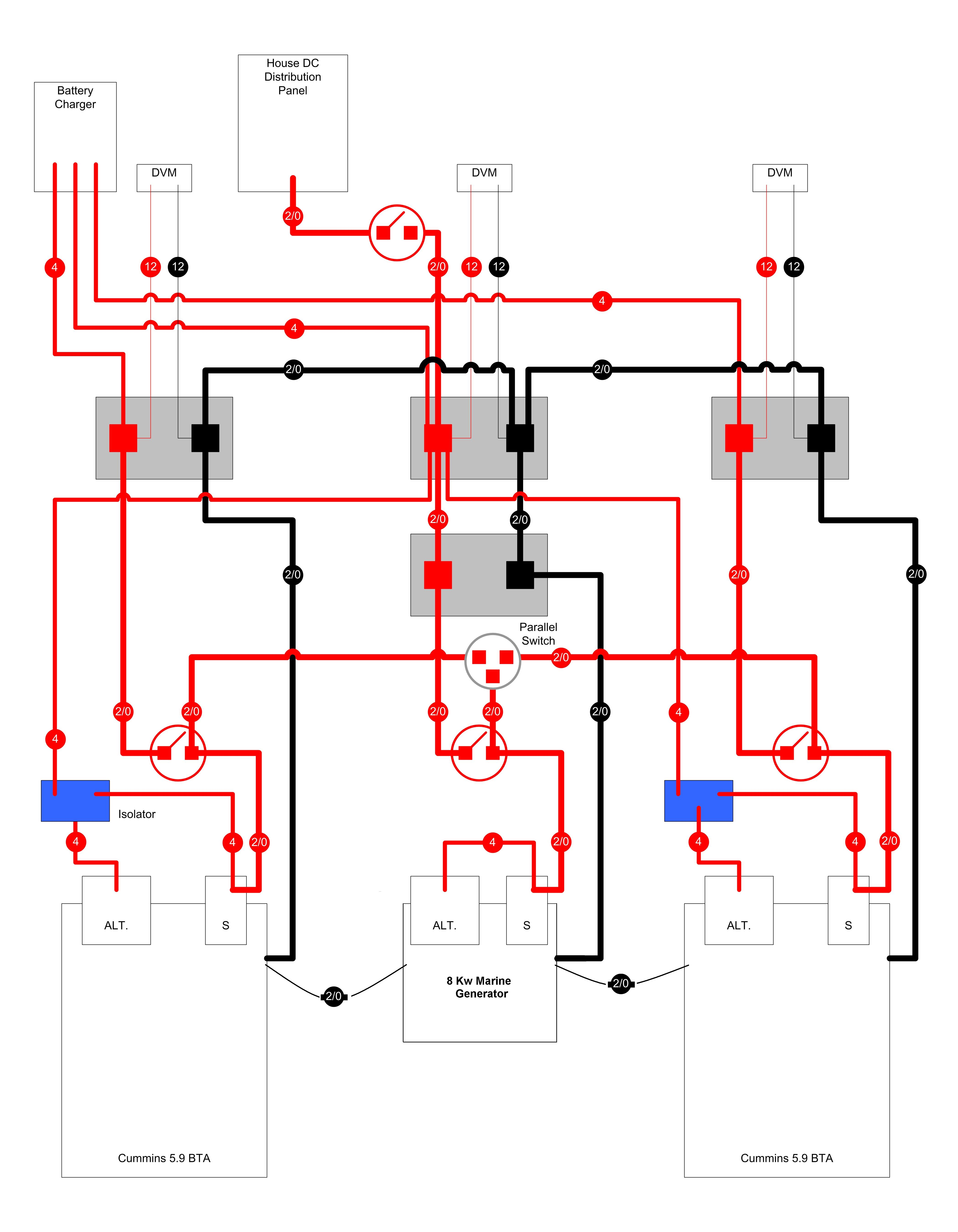 typical dc power distribution examples for marine engines electrical diagram software mac electrical diagram software