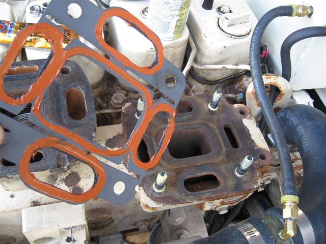 Changing a turbo to exhaust manifold gasket on cummins