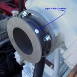 Cummins Marine Exhaust Flange Pyrometer (EGT) Location
