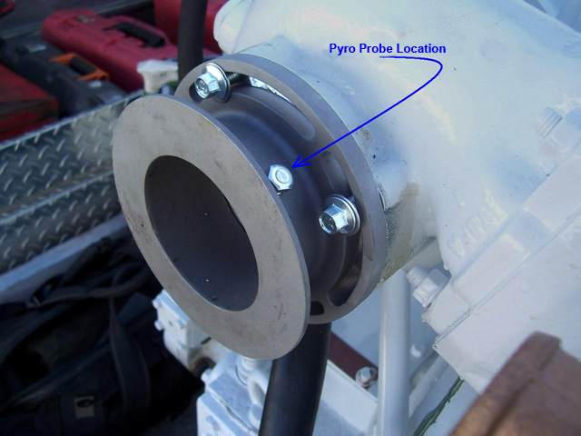 Cummins Marine Exhaust Flange Pyrometer (EGT) Location