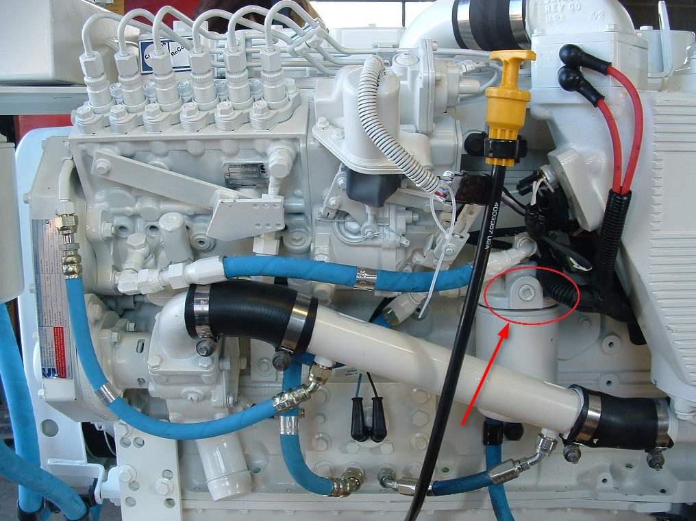 Fuel Pressure Test Port Seaboard Marine