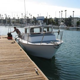 """The vessel has the typical """" Seaway"""" look. A little commercial, but still has those lines that appeal to so many. Don't know if you are aware of the Seaway heritage, but just about all of the """"Baywatch"""" boats, here in So. Cal. were made by them......"""
