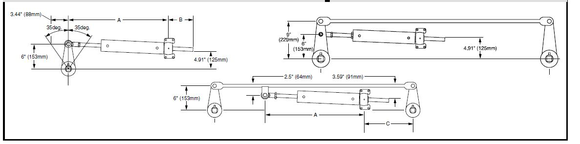 Basic Steering Ram Geometry Layout