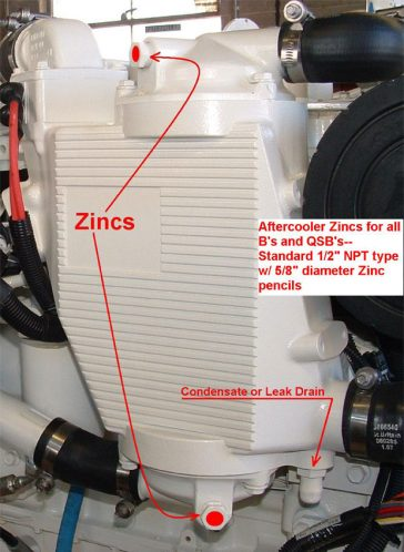 Zinc Locations Cummins Marine Diesel Engines