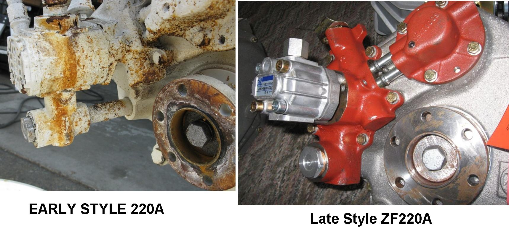 Early ZF 220A vs Late style ZF220A Pump & valve body