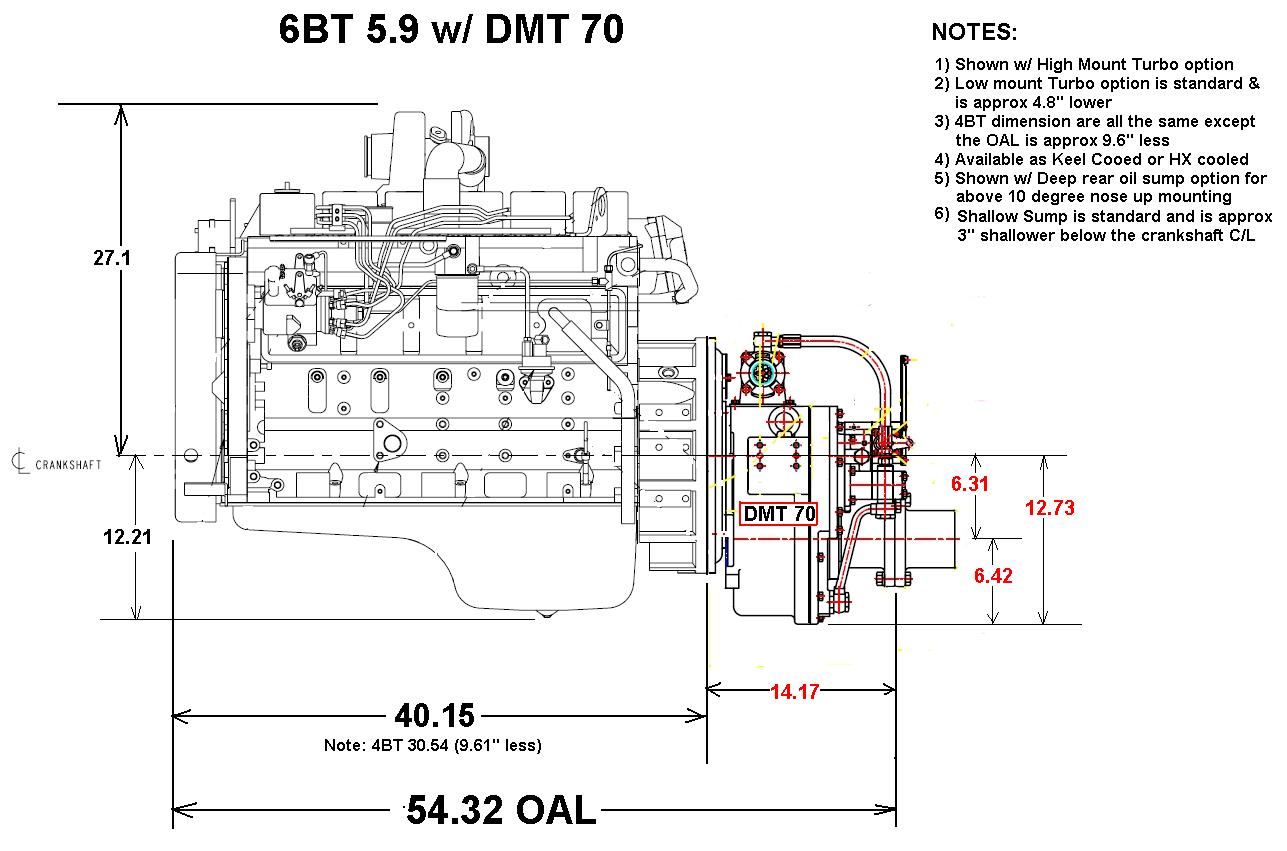 heavy duty commercial grade cummins 6bt 210 marine engine