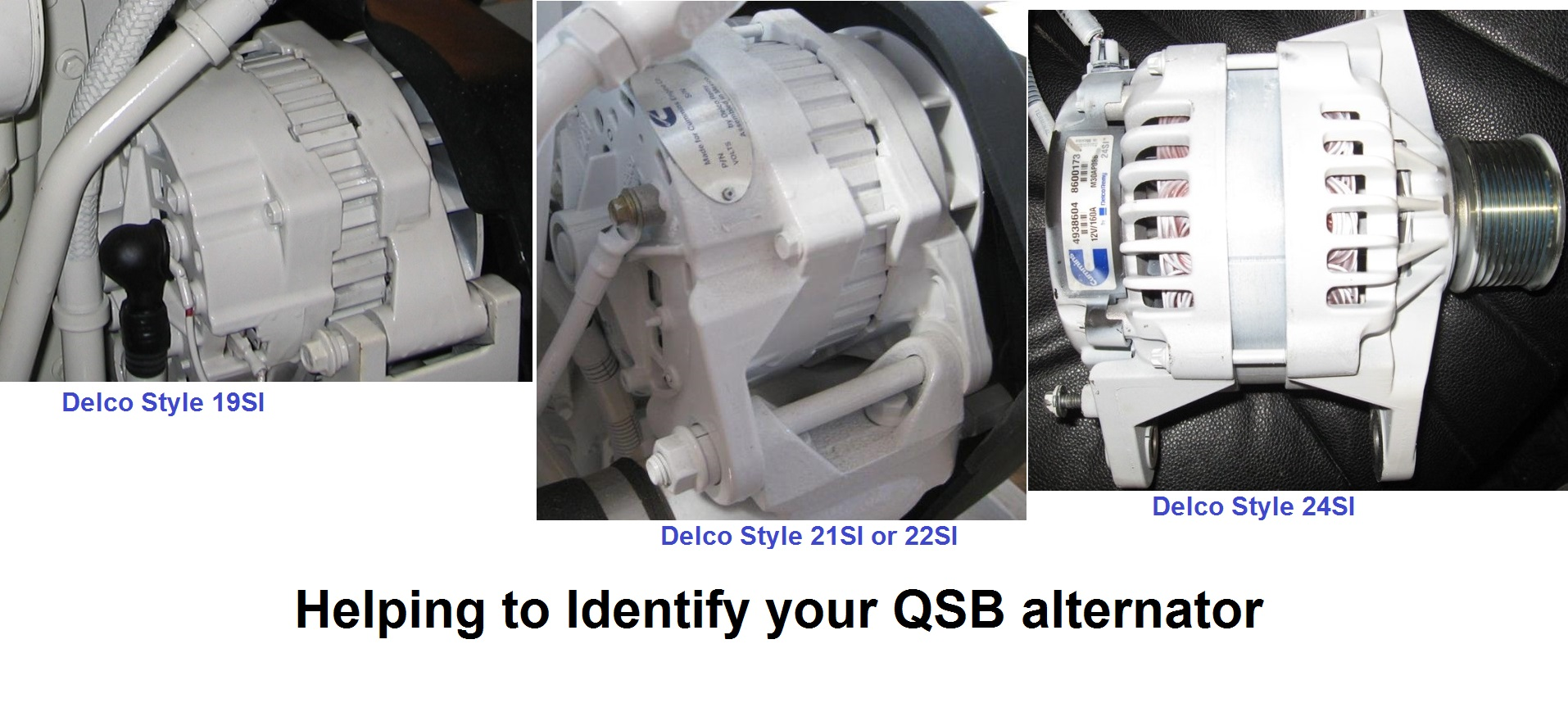 identifying the alternator on the qsb 5 9