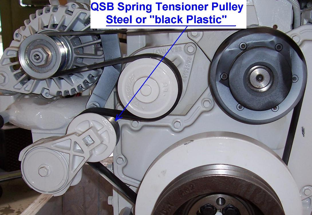 Qsb Spring Tensioner on Dodge Ram 2500 Serpentine Belt Diagram
