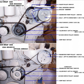 QSB Seawater pulley configuration - Old & New