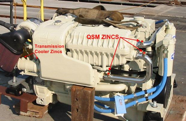 Zinc Locations On The Qsm 11