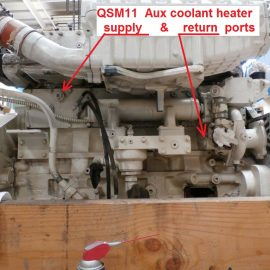 QSM11 Heater Supply Ports