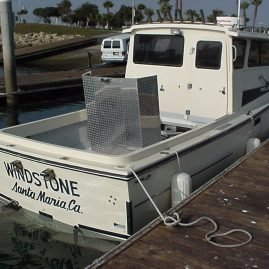 """""""Windstone"""" is owned by David Sharabani of Santa Maria, California. He's an electrical contractor that is trying to find time to go fishing now that he's got a serious fish machine that can run with the best of them!"""