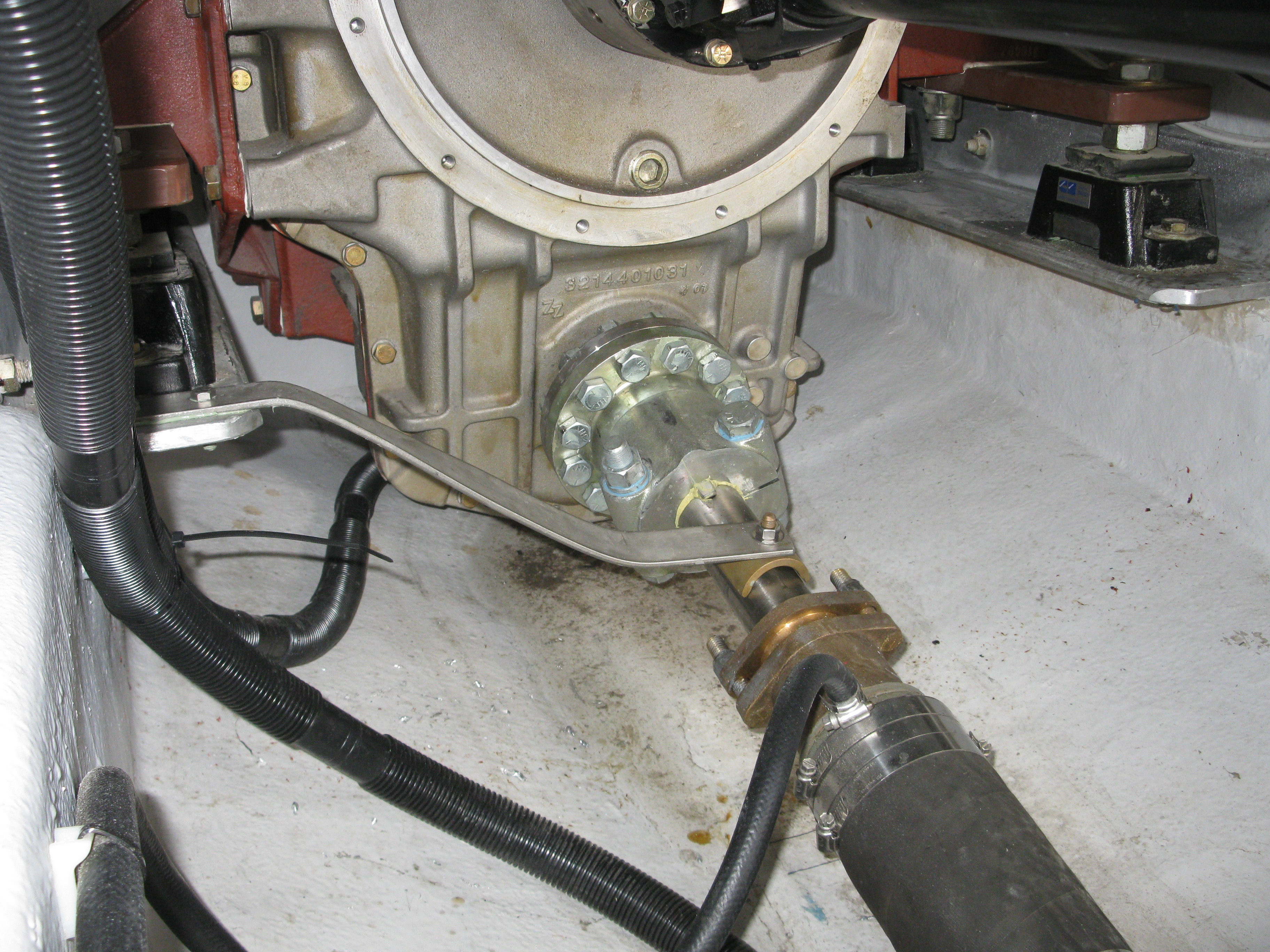 """Shaft wiper and water feed to log / center shaft bearing. I used 2"""" AQ19 shafting."""