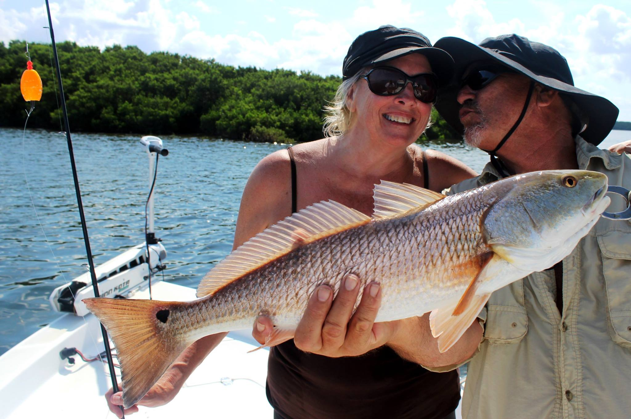 Tony and Donna with a nice Redfish!