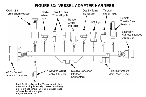 Vessel Adapter Harness understanding your smartcraft 1 0 \u201cmedusa\u201d vessel adapter harness mercury 8 pin wiring harness diagram at edmiracle.co