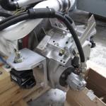 "ZF 280A Marine Transmission with Heavy Duty 3/4"" Aluminum Custom Mounting Brackets"
