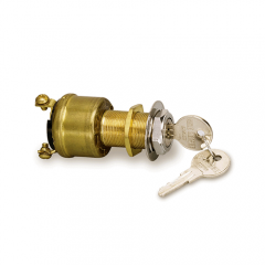 Cole Hersee Brass Marine Ignition Switch, Off/Ign/Start