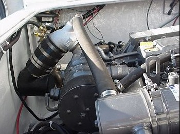 Semi-custom / modified Yanmar exhaust riser.. Always use the available height in your engine room to help insure a safe exhaust system.