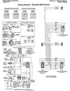 B & C Standard Mechanical Engine Wiring Diagram