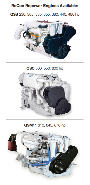 Cummins Marine Quantum Series Electronically Controlled ReCon Repower Engines