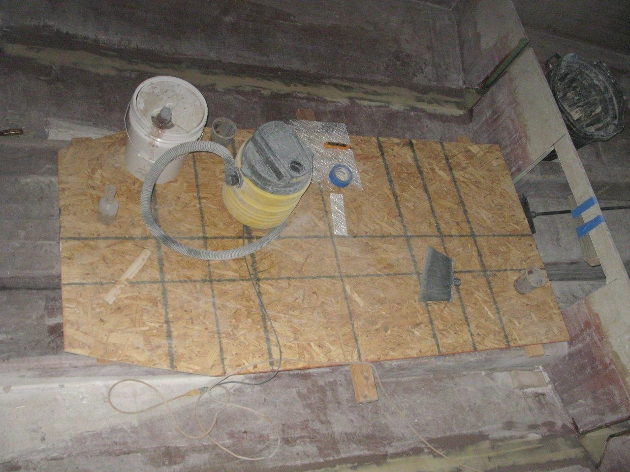 Wesmac Jan 9 front water tank & floor -- Measuring Templete Pattern