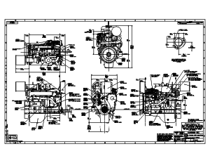 Cummins 6CTA Hi-Mount (JWAC) Drawing
