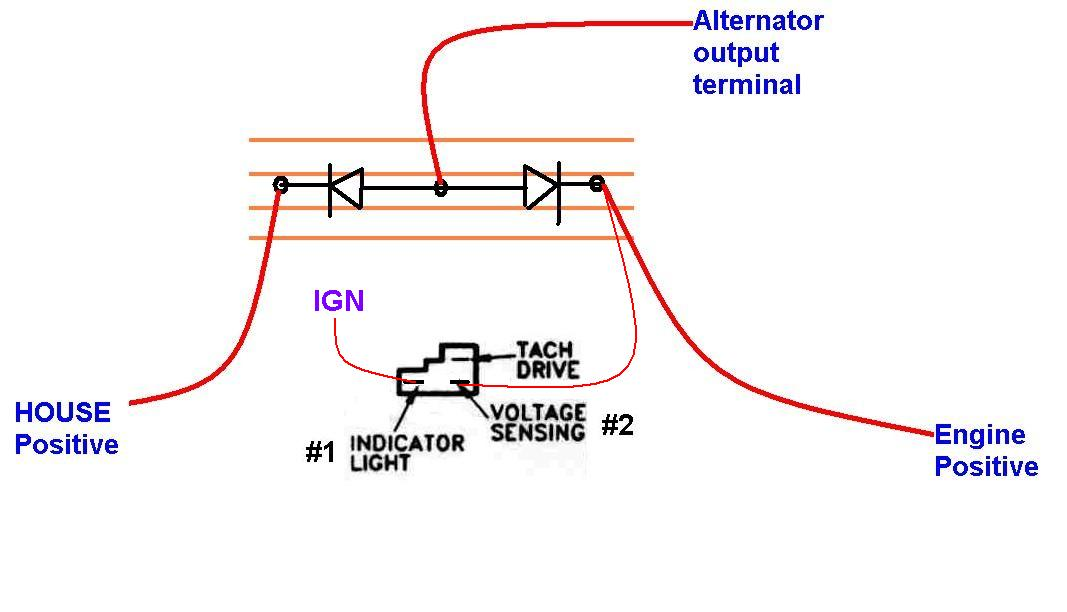 Diode Isolator Alternator hook up how to install a diode isolator with an alternator seaboard marine Isolator Wiring-Diagram Block at bayanpartner.co