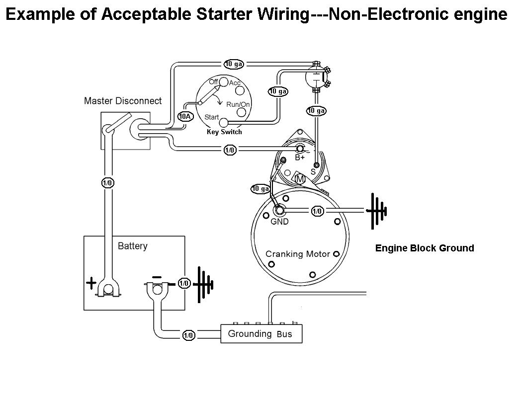 engine starter wiring system wiring diagram  starting motor wiring diagram #11