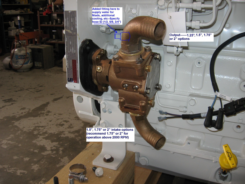 Cummins Marine 6BT 5.9 with an SMX 1730 Seawater Pump ...