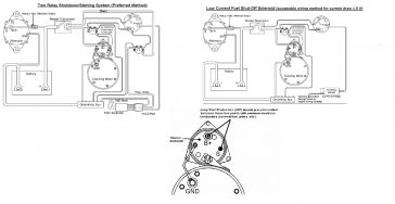 electrical instrumentation page 4 of 5 seaboard marine basic fuel shutoff solenoid and starter wiring information