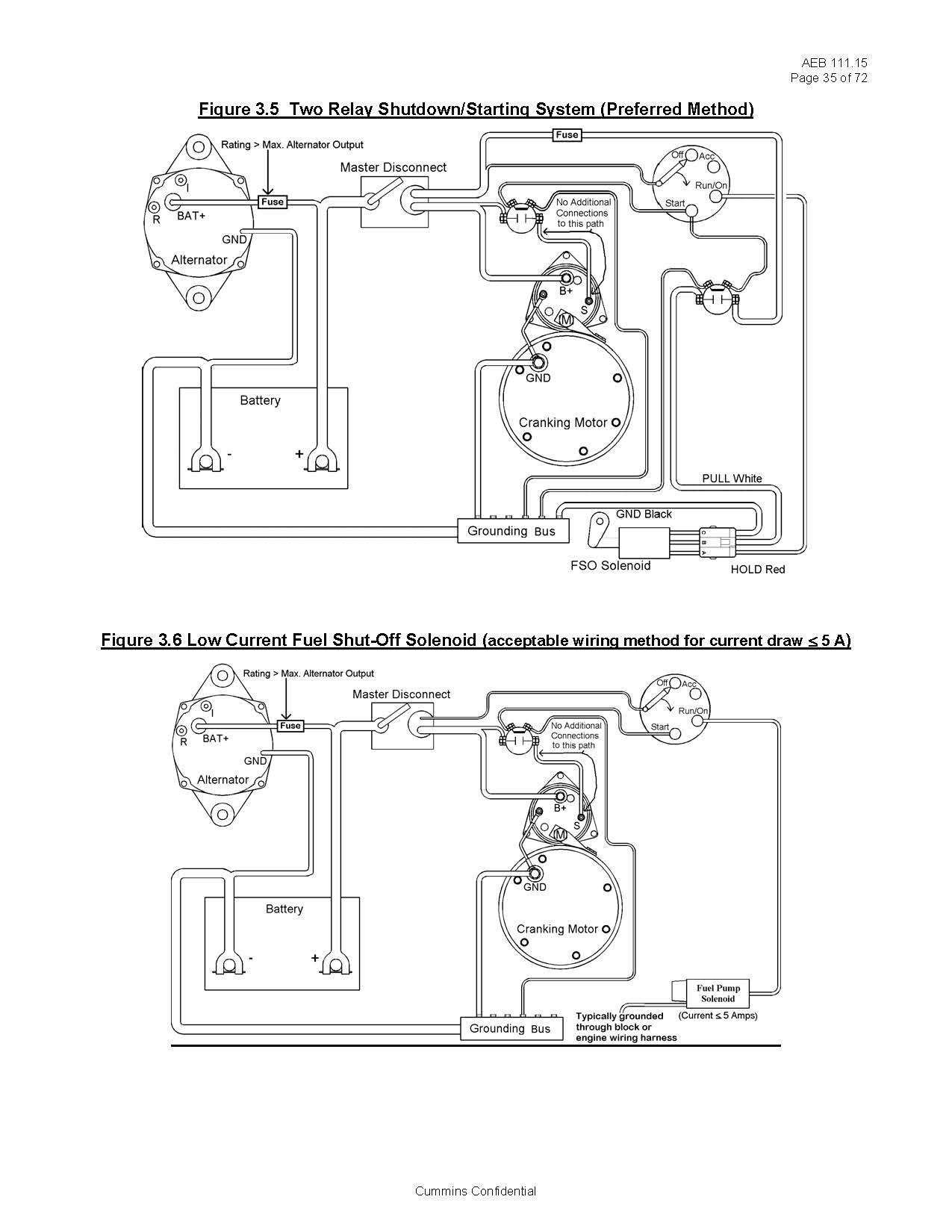 Basic Fuel Shutoff Solenoid And Starter Wiring Information Hitachi Pages From Cummins Page 2