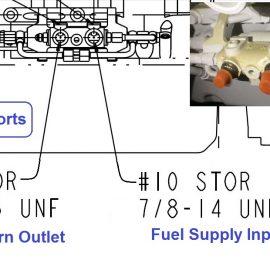 Cummins QSB 6.7 Fuel Supply and Return Ports