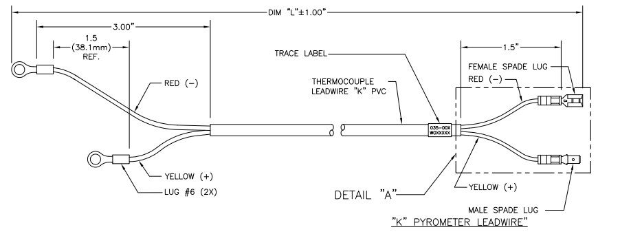 SMX EGT Pyro Lead Wire Drawing